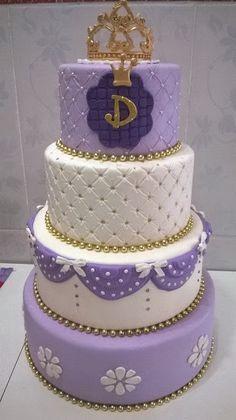 bolo lilas e rosa 15 anos - Pesquisa Google