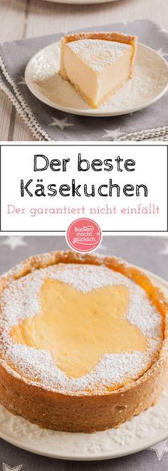 Unser liebstes Käsekuchenrezept: Klassisch, einfach, cremig, lecker. Mit meinen Tipps fällt die Quarkmasse des Käsekuchens nach dem Backen auch garantiert nicht ein.