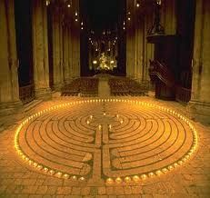 This is Grace Cathedral in San Francisco.  If you ever have the chance to walk this Labyrinth by candle light, I highly recommend it.