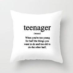 Teenager. Throw Pillow by S J A E $20.00 #bestseller