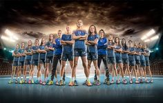 SKC handball team calendar photoshooting