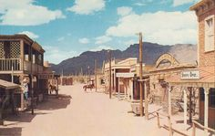"""Main Street-""""Old Tucson,Arizona"""" - Cakcollectibles - 1 Arizona Road Trip, Arizona Travel, Old Town Tucson, Old Western Towns, Old West Town, The Lone Ranger, Tucson Arizona, Le Far West, Abandoned Places"""