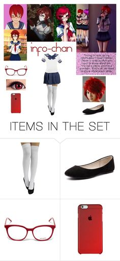"""Info-chan~ Yandere Simulator"" by marcykxx ❤ liked on Polyvore featuring art and yanderesimulator"