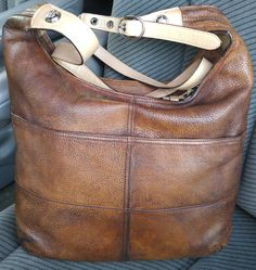 Back view of Coach leather bag after dying.