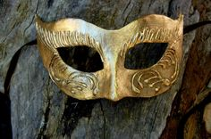 Gold Leaf Masquerade Mask on SALE by AnotherFaceStudio on Etsy, $15.00
