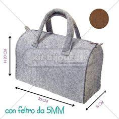 BORSA A BAULETTO 33X16X20H CM FELTRO 5MM NERO
