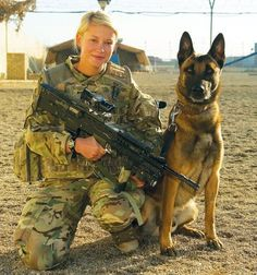 Military working dog and handler
