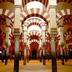 """Cordoba Spain, this church started out as a Jewish temple, a mosque, and is now a church.  While there, some of the parents ask me, as a history teacher, what Cordoba was know for.  In my best Ricardo Montteban voice I said, """"Oh their fine corinthian leather."""