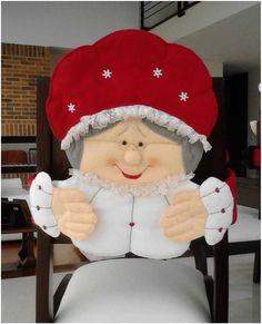 Visita nuestro centro de capacitacion virtual de MANUALIDADES: www.elrincondeanamaria.com/ Tutorial de cubresillas MAMA NOEL ...