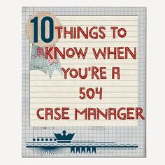 The Middle School Counselor: Things To Know When You Are A 504 Case Manager