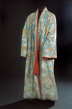 Morning Gown (Rock) Date: 1725–75 Culture: Japan, for Dutch market Medium: Silk (resist-dyed and painted); silk lining and filling Dimension...