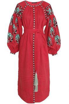 Vyshyvanka vestido ucraniano. Kin de Vita estilo. Vestido