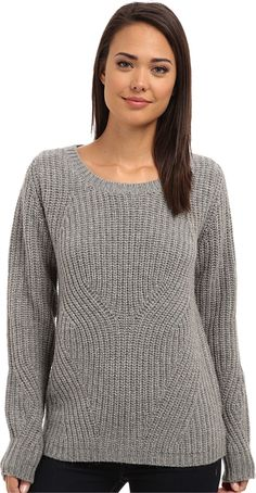 Joe's Jeans Women's Tawney Sweater Heather Charcoal Sweater. Joe's Jeans Women's Size Guide. A Joe's Jeans® sweater that will fast become your favorite layering piece. Oversized design lends a modern, abstracted take on the cable-knit design. Soft, warm blend features a mix of wool and alpaca. Pullover sweater. Round neckline. Extended hemline. Rib-knit collar, cuffs, and hem. 35% acrylic, 35% wool, 30% alpaca. Dry clean only. Imported. Measurements: Length: 27 in Product measurements…