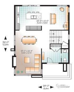 Détail du plan de Maison unifamiliale W3713