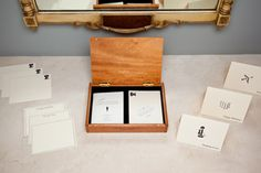 A handwritten note always makes a good impression. Everything you need for any occasion in a handsome, wooden box. $68.50