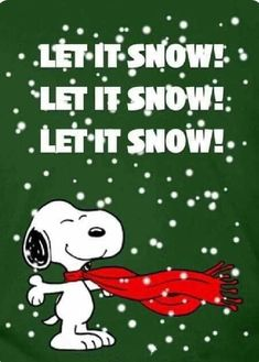 Christmas - Snoopy - Let It Snow! Peanuts Christmas, Charlie Brown Christmas, Charlie Brown And Snoopy, Christmas Fun, Christmas Cartoons, Xmas, Christmas Movies, Christmas Cards, Snoopy Images