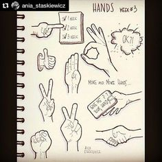 #Repost @ania_staskiewicz with @repostapp ・・・ I kolejny tydzien:) week 3 Hands #therevisionguide #therevisionguide_52wvv #52wvv_week3 #todaysdoodle #doodle #sketchnotes #visualthinking #hands