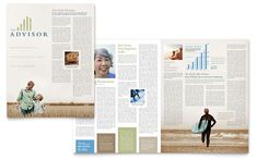 Retirement Investment Services Newsletter Design Template by StockLayouts