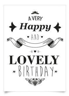 Happy Birthday - black & white --- http://tipsalud.com -----