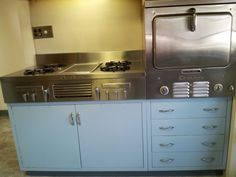 Chambers stove cooktop with wall oven. Later models 1960's?
