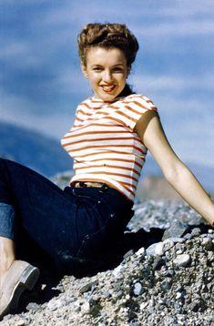 Famous stripes - Marilyn Monroe
