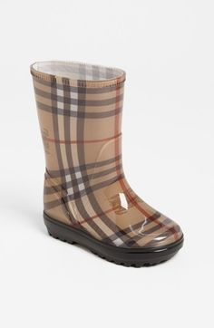 How darling, #Burberry Toddler, Little & Big Kids Rain Boots! // Nordstrom.com- #RainBoots #PreppyKids