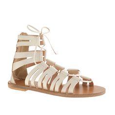 "A classic super-strappy gladiator sandal in Italian leather that basically makes every day feel like a summer Friday. <ul><li>3/8"" heel.</li><li>Italian leather upper.</li><li>Leather lining.</li><li>Made in Italy.</li></ul>"