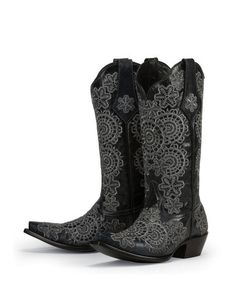 PRODUCT DESCRIPTION Made from high-quality genuine leather, these boots create a fashionable and exceptionably comfortable fit. Elegantly designed with a soft black leather and intricate lace-like emb