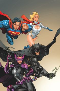 """BATMAN/SUPERMAN #8 Written by GREG PAK Art and cover by KENNETH ROCAFORT On sale FEBRUARY 5 • 32 pg, FC, $3.99 US • RATED T • Combo pack edition: $4.99 US The Worlds' Finest teams of two worlds meet at last in chapter 1 of """"First Contact""""! With Power Girl's abilities on the fritz, see what happens when her long-lost cousin Superman approaches her! And a major threat returns in a way you won't believe! Continues in this month's WORLDS' FINEST #8."""