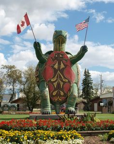 Tommy, a 10,000 lb, 28 ft tall Turtle, is so much more than the fiberglass and resin that makes up his outer core. He is Boissevain's mascot, its international representative, its biggest fan. #exploremb