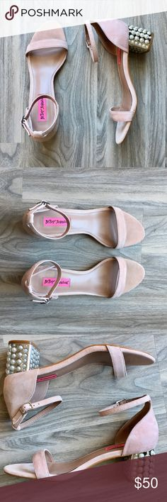 Betsey Johnson blush sandals 7 NWT Betsey Johnson blush sandal with pearl detail NWB. Absolutely love these. They're gorgeous in person. The blush is such a darling color, and the pearls just makes you adorn them. No wear or tear besides trying them on. Perfect condition. Betsey Johnson Shoes Sandals