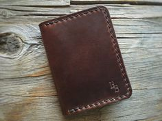 4970ca6847 Items similar to Seagull bi-fold brown Chromexcel wallet on Etsy. Leather  WorkingHand StitchingWalletsCard ...