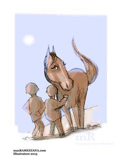 Bellissima illustrazione di Max Ramezzana ...  tratta dal libro : UNA CAREZZA TI SCALDA IL CUORE