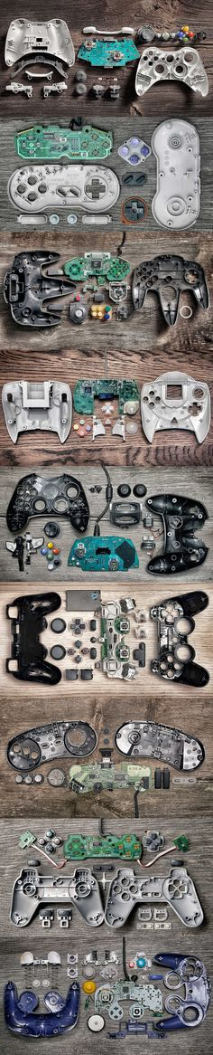 Anatomy Of Controllers By Brandon Allen - check cheap games here… Skyrim, Videogames, Bartop Arcade, Mundo Dos Games, 8 Bits, Game Boy, Video Game Art, Geek Out, Geeks