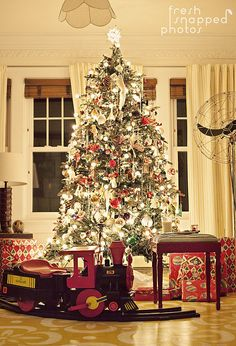 ive always loved the idea of a train under the tree christmas - Train Under Christmas Tree