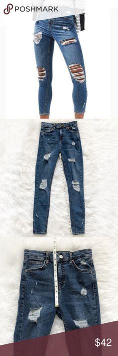 fc7918da1bce9 TOPSHOP Moto Jamie High Waist Super Rip Jeans! TOPSHOP Moto Jamie Skinny  High Waist Super. Ankle Grazer ...