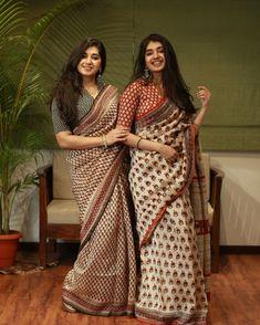 Blouse Designs High Neck, Sari Blouse Designs, Fancy Blouse Designs, Simple Saree Designs, Simple Sarees, Casual Indian Fashion, Indian Bridal Fashion, Cotton Saree Designs, Modern Saree