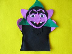 Sesame Street the Count hand puppet by puppetmaker on Etsy, $4.99