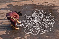 Indian floor mandala