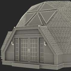 dome home photos | geodesic dome house c4d - Geodesic Dome House... by 3d_molier