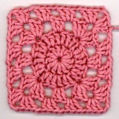 Transcendent Crochet a Solid Granny Square Ideas. Inconceivable Crochet a Solid Granny Square Ideas. Crochet Motifs, Granny Square Crochet Pattern, Crochet Blocks, Crochet Squares, Crochet Stitches, Crochet Patterns, Afghan Patterns, Easy Granny Square, Crochet Afghans