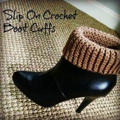 Slip on Crochet Boot Cuff Pattern Slip on Crochet Boot Cuff Free Pattern Crochet Boot Cuff Pattern, Fingerless Gloves Crochet Pattern, Crochet Boots, Knit Boots, Slip On Boots, Crochet Slippers, Crochet Beanie, Knit Crochet, Crochet Patterns