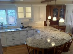 Image result for pinterest kitchen with white cabinets and light countertops