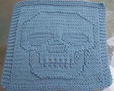 Knitted Dishcloth Patterns   Just a Skull Knit Dishcloth Pattern