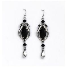 Black Crystal Dangle Earrings http://www.aranwensjewelry.com/collections/earrings/products/black-crystal-dangle-earrings