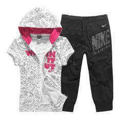 El nuevo corto- manga suéter con capucha pantalón deportes leisure suit traje 2 pieza conjunto( sudaderas con capucha + pantalón)