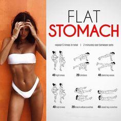6 Weeks flat stomach workout challenge
