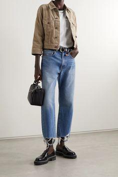 Mushroom Moore cropped cotton-corduroy jacket | Denimist | NET-A-PORTER Corduroy Jacket, Models, Who What Wear, Work Wear, Mom Jeans, Menswear, Normcore, Casual, Sleeves