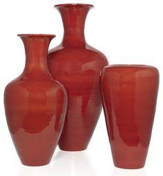 Lacquer Vases - Burnt Orange contemporary vases