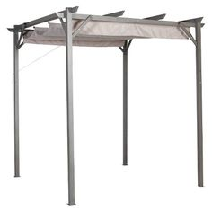 Pacific Casual 8' x 8' Steel Pergola with Retractable Top